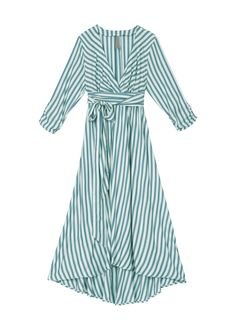 Ruched Surplice Tissue Hem Dress at Melissa McCarthy Seven7