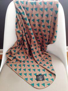 Triangles Swaddle Blanket Geometric Gender Neutral Blanket // Triangle Baby Blanket // MJC0920