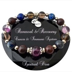 Cancer Immune System Recovery Healing Crystal Reiki Gemstone Bracelet