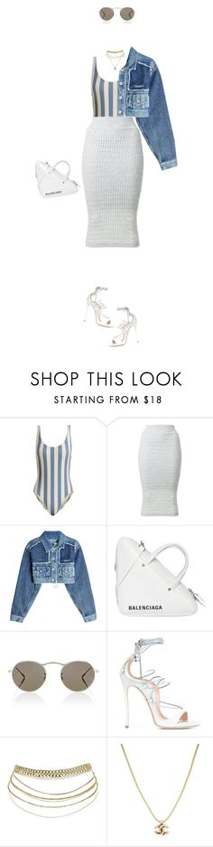 """""""YOUNG, WILD & FREE"""" by guccimaniac ❤ liked on Polyvore featuring Solid & Striped, T By Alexander Wang, Off-White, Balenciaga, Oliver Peoples, Dsquared2 and Chanel"""
