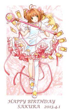 Cardcaptor Sakura | CLAMP | Madhouse / Kinomoto Sakura and Keroberos (Kero-chan) / 「さく誕漫画」/「ぽりつぎ」の漫画 [pixiv]