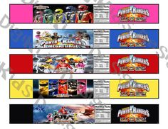 Power Rangers Mega Force Personalized Water by DigiKidsDesign