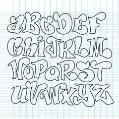 Lettering Fonts Discover Vector set of handwritten fonts ABC alphabet letters - Stock Vector Graffiti Lettering Alphabet, Tattoo Lettering Fonts, Doodle Lettering, Lettering Styles, Doodle Fonts, Creative Lettering, Doodle Art, Handwriting Alphabet, Alphabet Letters