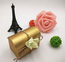 Branco Tesouro Boxes Favor Do casamento, Caixa Dos Doces, Caixa de presente(China (Mainland))