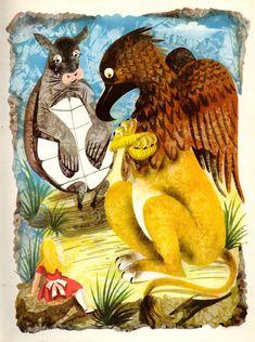 Leonard Weisgard's stunning Alice in Wonderland illustrations circa 1949