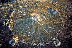 Bighorn Native American Medicine Wheel, from above