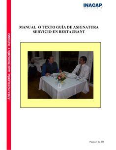 MANUAL O TEXTO GUÍA DE ASIGNATURA      SERVICIO EN RESTAURANT                                  Página 1 de 204