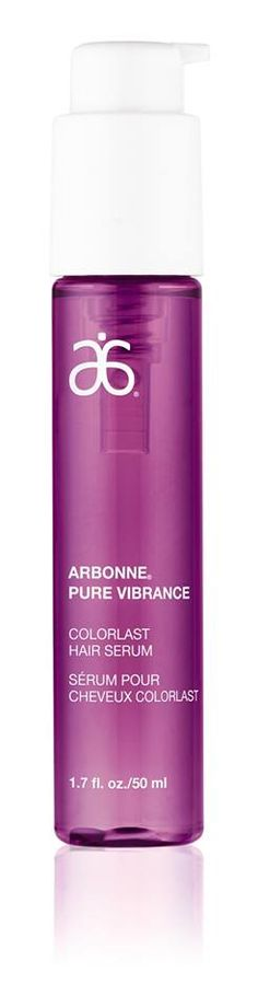 """Exciting news! Our Pure Vibrance ColorLast Hair Serum is featured in the October issue of ELLE Canada. As part of the """"Editors' Picks Lust List,"""" Arbonne® Pure Vibrance ColorLast Hair Serum is praised for protecting hair colour year-round.  ---"""