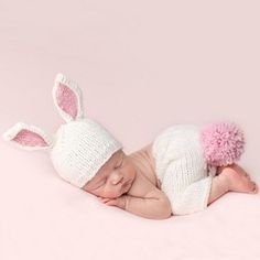 Are you expecting a special delivery this spring? Bailey Bunny Newborn Set creates such an adorable photo shoot for your baby girl! Shop Newborn Photography at SugarBabies Boutique!