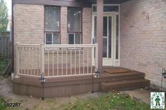 front entrance deck ideas | This deck plan is for a small front deck or porch