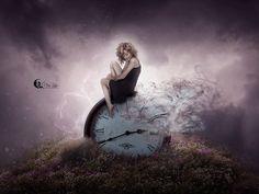 time goes by    by veelu21 - Digital Art by Vera Lucia  <3 <3