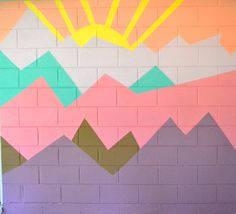 How to Paint Wall Murals for Kids - 5 Easy DIY Ideas. Are you ready for some inspiring easy playroom mural designs? I love a good DIY project and these ideas are perfect for unique playroom murals or for your little one's…View Post Playroom Mural, Kids Wall Murals, Mural Wall Art, Diy Wall Painting, Mural Painting, Painting For Kids, Wall Patterns, Painting Patterns, Wal Art
