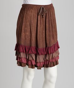 Another great find on #zulily! Brown Ruffle Skirt by Royal Handicrafts #zulilyfinds
