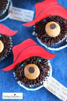 Paddington Bear Cupcakes, almost too sweet to eat! (almost)