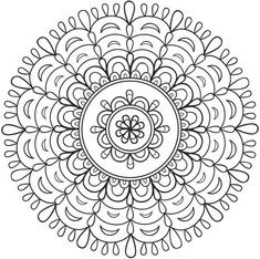 Mandala 676, Creative Haven Spark Mandalas Coloring Book, Dover Publications