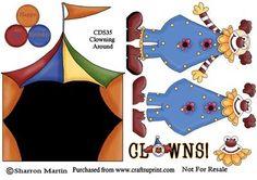 CDS35 Clowning Around on Craftsuprint - Add To Basket!