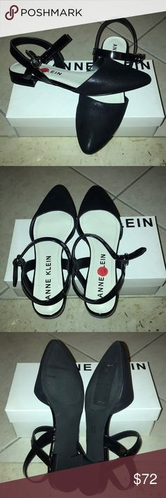Pointy toe/ open back flats Brand new black pointy toe/ open in the back flats. They come with original box! Anne Klein Shoes Flats & Loafers