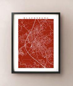 Blacksburg Map Art