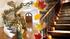 Decorare scale in autunno