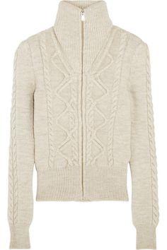 Isabel Marant | Dixon cable-knit wool-blend cardigan | NET-A-PORTER.COM