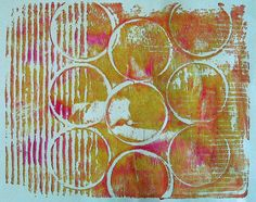 constance rose : textiles and mixed media: The Gelli Prints