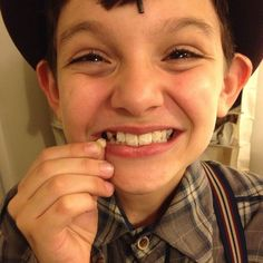 He lost a tooth!