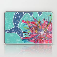 Dolphin Laptop & iPad Skin www.juliem.pro http://society6.com/product/dolphin-up5_laptop-skin#2=132