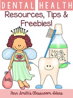 Dental Health Month Resources, Tips, Books, Lessons and a Freebie! #Free