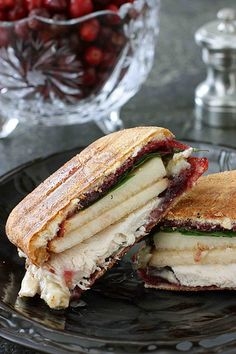 Leftovers, my favorite way.  Turkey, Brie, Pear & Cherry Chipotle Panini | cookincanuck.com #Thanksgiving