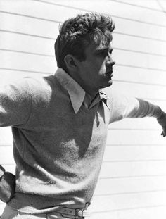 James Dean on the set of East of Eden, 1955, photo by Roy Schatt