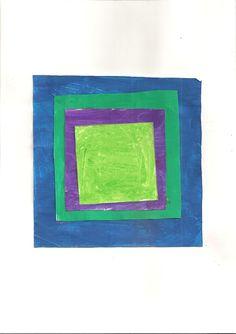 Josef Albers  travail sur le carré en géométrie