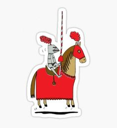 Jumpy Knight Sticker