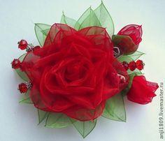 Брошь - ярко-красный,цветы ручной работы,украшения ручной работы,брошь цветок