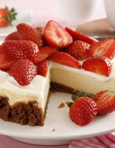 American Cheesecake mit Erdbeeren: http://kochen.gofeminin.de/rezepte/rezept_american-cheesecake_337095.aspx #cheesecake