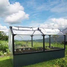 Greenhouse for people with bad backs or other physical needs    GrowCamp 4' x 8' Modular Greenhouse