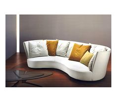 Curved or shaped furniture such as this Embrace Sofa