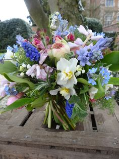Lock cottage flowers surrey uk early spring table arrangement http may flowers by catkin catkinflowers mightylinksfo