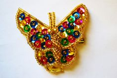 Handmade Vintage Butterfly Brooch Unique Colorful Vintage Brooch Vintage Jewelry Pin by eventsmatters on Etsy