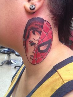 What does spiderman tattoo mean? We have spiderman tattoo ideas, designs, symbolism and we explain the meaning behind the tattoo. Spiderman Tattoo, Tattoos With Meaning, Tattoo Designs, Tattoo Ideas, Tatting, Piercings, Geek Stuff, Ink, Nerd