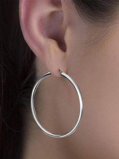 Push back earrings Trend minimal hoops Antique Silver Engraved Thick Twisted Hoop Earrings Minimalist Dainty Geometric hoop earrings