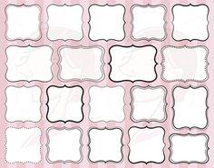 Digital Scrapbooking Frames Clipart Borders by MayPLDigitalArt, $5.70