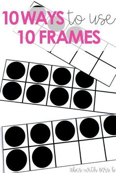 I use ten frames in my classroom so often to give students practice with structuring numbers to 10. I wrote down a few ideas for games and activities that can be used in math centers or small groups for your students!