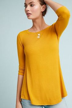 Anthropologie Madelyn Ribbed Swing Top by Pure + Good. Whether paired with your favorite denim or an on-trend skirt, this ribbed swing top is a must-have for the new season. Layering Tank Tops, Sweater Layering, Swing Top, Comfortable Outfits, Minimalist Fashion, Lounge Wear, Floral Tops, Tunic Tops, Clothes For Women