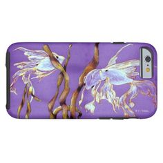 Purple Fish Art iPhone 6 case