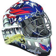 NHL Washington Capitals SX Comp GFM 100 Goalie Face Mask by Franklin. $52.95. Show your team spirit with the Franklin Washington Capitals NHL Team Goalie Mask Emblazoned with officially licensed team logos and colors and featuring High impact ABS Plastic with antimicrobial technology. Anatomically designed for safety and comfort with adjustable quick-snap straps to ensure proper fit. Sized for kids ages 5-9 and only for street hockey use. Not intended for ice hockey or any t...