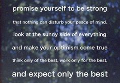 promise yourself to be strong...