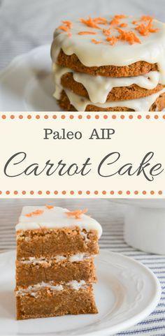 Paleo AIP Carrot Cake