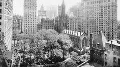 """""""La riconoscete?"""" E' #TrinityChurch nel #1908. #photo #vintage #fotografia #StatiUniti #Usa #biancoenero #church"""