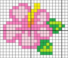 #Pixel #Hama #Beads #Pyssla #PuntoCroce #CrossStitch #Fiori #Flowers
