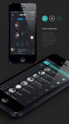 Mobile App Design Inspiration – MEETER | Designbeep